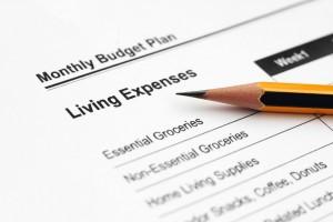 Living Expenses pencil