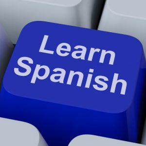 Learn Spanish Key Showing Studying Language Online